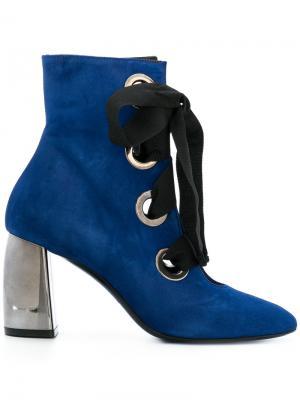 Ботильоны на шнуровке Marc Ellis. Цвет: синий