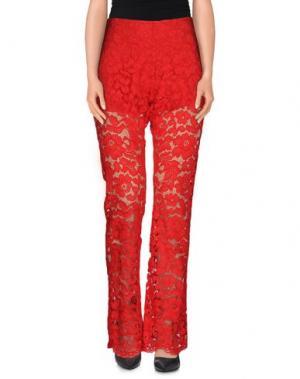 Повседневные брюки PAULIE. Цвет: красный