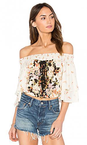 Цветочная блуза poinsettia Band of Gypsies. Цвет: кремовый