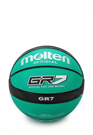 Мяч баскетбольный Molten. Цвет: зеленый
