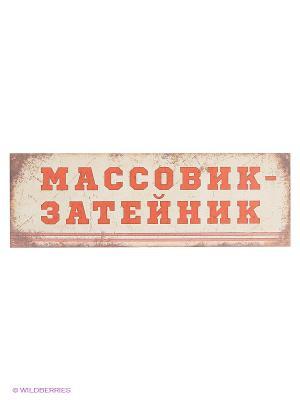 Табличка на дверь Массовик-затейник Kawaii Factory. Цвет: бежевый