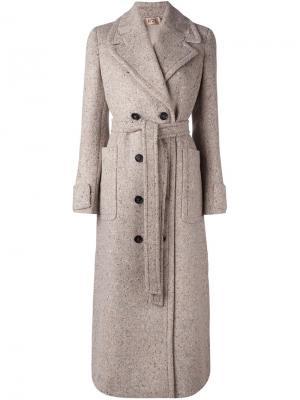 Двубортное пальто Nº21. Цвет: телесный