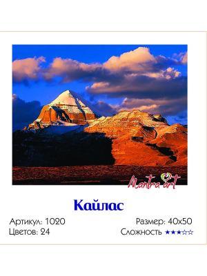 Живопись на холсте Кайлас + диск в подарок MantraArt. Цвет: белый