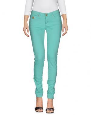 Джинсовые брюки DUCK FARM. Цвет: бирюзовый