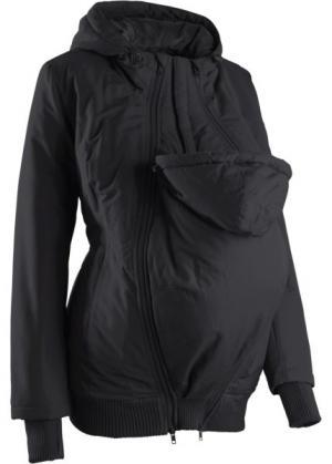 Куртка для беременных с двумя карманами (черный) bonprix. Цвет: черный