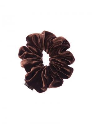 Резинка тканевая la France. Цвет: коричневый