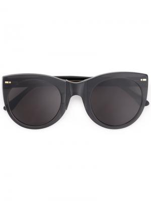 Солнцезащитные очки в объемной оправе Movitra. Цвет: чёрный