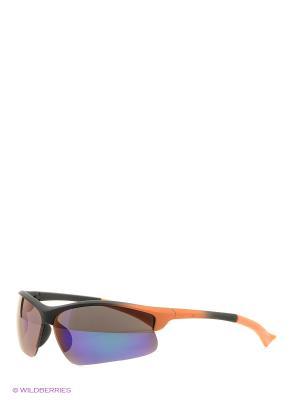 Солнцезащитные очки Vita pelle. Цвет: синий, оранжевый