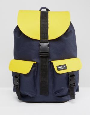 Nicce London Желтый рюкзак с прорезиненной отделкой. Цвет: желтый