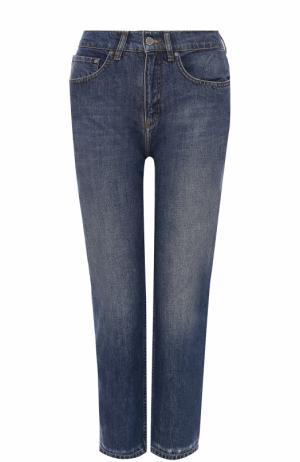 Укороченные джинсы с потертостями Victoria by Beckham. Цвет: синий