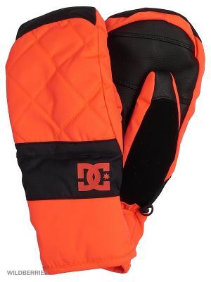 Варежки DC Shoes. Цвет: оранжевый