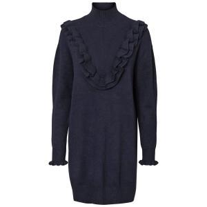 Платье однотонное прямого и короткого покроя с длинными рукавами VERO MODA. Цвет: оливковый,темно-синий,черный