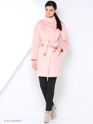 Пальто Amulet. Цвет: розовый