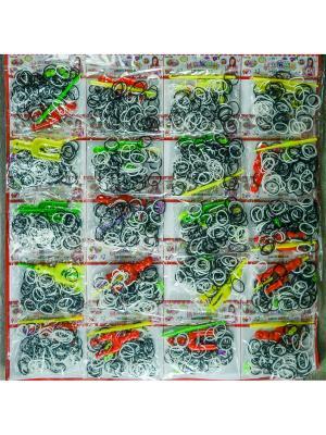 Резинки для плетения 4000 резинок Loom Bands. Цвет: прозрачный