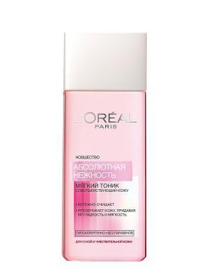 Тоник Абсолютная нежность, для сухой и чувствительной кожи, гипоаллергенно, 200 мл L'Oreal Paris. Цвет: бледно-розовый