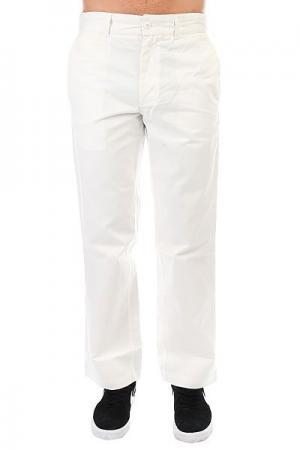 Джинсы широкие DC All Season Pant White Shoes. Цвет: белый