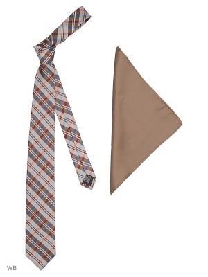 Галстук J Ploenes. Цвет: коричневый