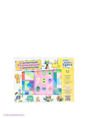 Магнитный развивающий конструктор Kribly Boo. Цвет: зеленый, розовый