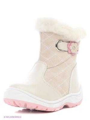 Полусапожки Mursu. Цвет: кремовый, бледно-розовый