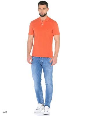 Футболка-поло Della Ciana. Цвет: оранжевый