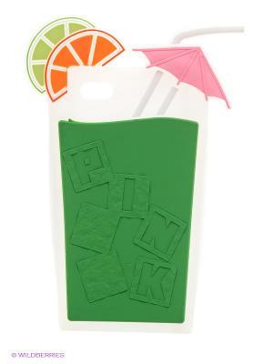 Чехол для iPhone 5/5s WB. Цвет: зеленый, белый