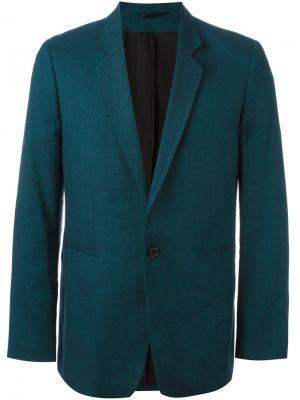 Приталенный пиджак Ann Demeulemeester. Цвет: синий