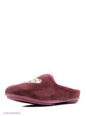 Испанские тапочки Mon Ami. Цвет: бордовый
