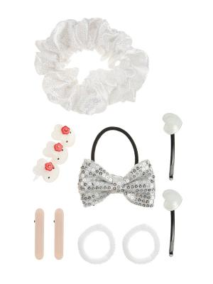 Набор аксессуаров детский LITTLE MANIA. Цвет: белый, кремовый, серый