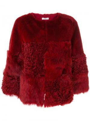 Short fur jacket Desa Collection. Цвет: красный