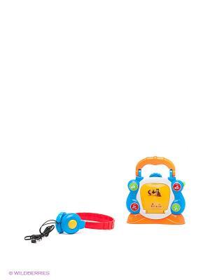Игрушка Электронный cd-плеер маша и медведь Играем вместе. Цвет: голубой, оранжевый, красный