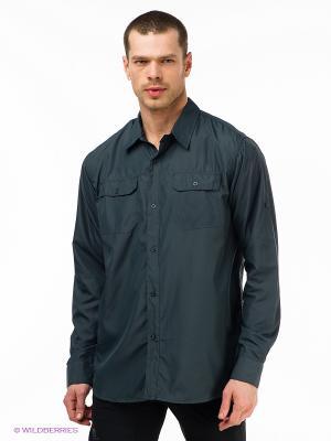 Рубашка Trespass. Цвет: темно-серый
