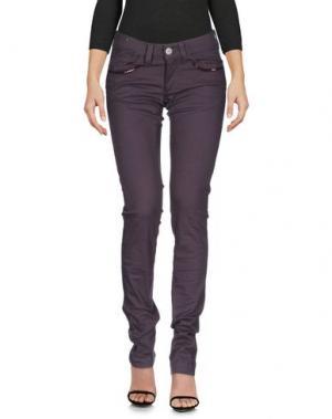 Джинсовые брюки MISS SIXTY. Цвет: баклажанный