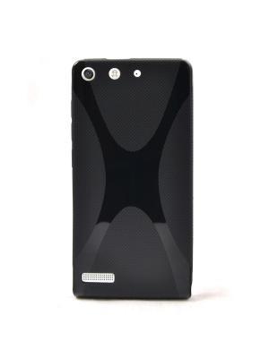 Чехол для Huawei Ascend G6 X, Икс-дизайн, черный Belsis. Цвет: черный