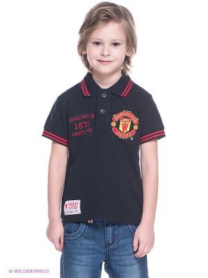 Футболка-поло Manchester United FC Atributika & Club. Цвет: черный, красный