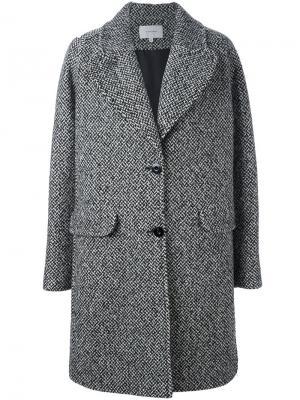 Однобортное пальто Carven. Цвет: чёрный