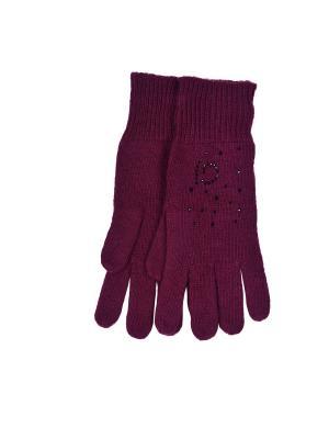 Перчатки Gaudi. Цвет: бордовый
