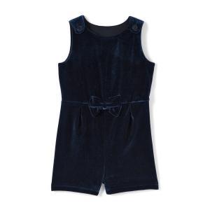 Комбинезон с шортами из велюра, 1 мес. - 3 года La Redoute Collections. Цвет: синий морской