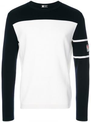 Двухцветный свитер Z Zegna. Цвет: белый