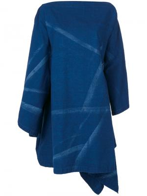 Топ-кейп свободного кроя Yohji Yamamoto. Цвет: синий