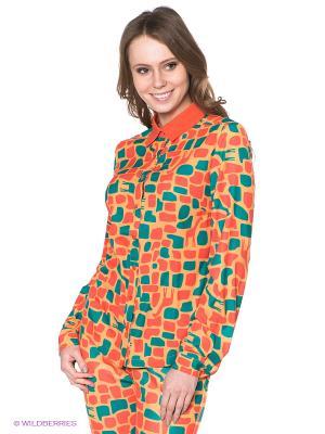 Блузка Neohit. Цвет: оранжевый, желтый, зеленый