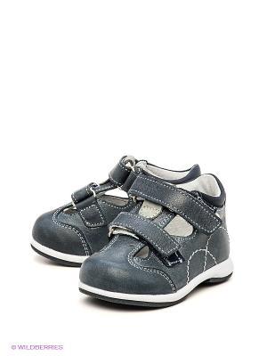 Туфли Детский скороход. Цвет: синий, серый