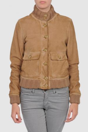 Куртка Compagnia delle pelli. Цвет: бежевый