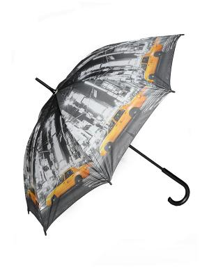 Зонт-трость Mitya Veselkov. Цвет: желтый, серый