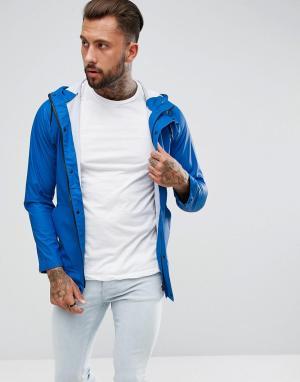 Another Influence Непромокаемая куртка. Цвет: синий