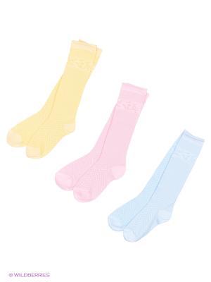 Носки - 3 пары Гамма. Цвет: желтый, голубой, розовый