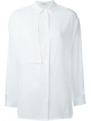 Рубашка с панельным дизайном Equipment. Цвет: белый