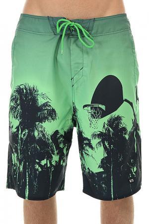 Шорты пляжные  Paradise Boardshorts Green/Black K1X. Цвет: зеленый,черный