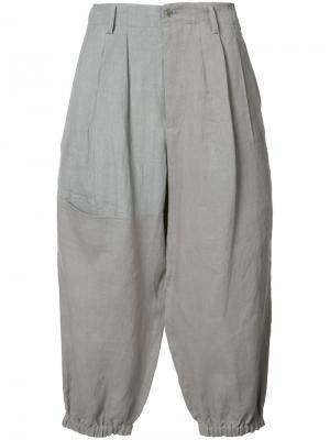 Укороченные брюки Yohji Yamamoto. Цвет: серый