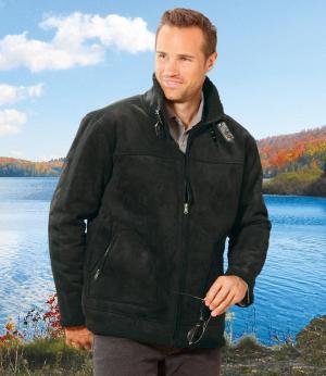 Замшевая Куртка с Подкладкой из Шерпы AFM. Цвет: черныи