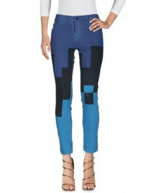 Джинсовые брюки CAROLINA WYSER. Цвет: цвет морской волны